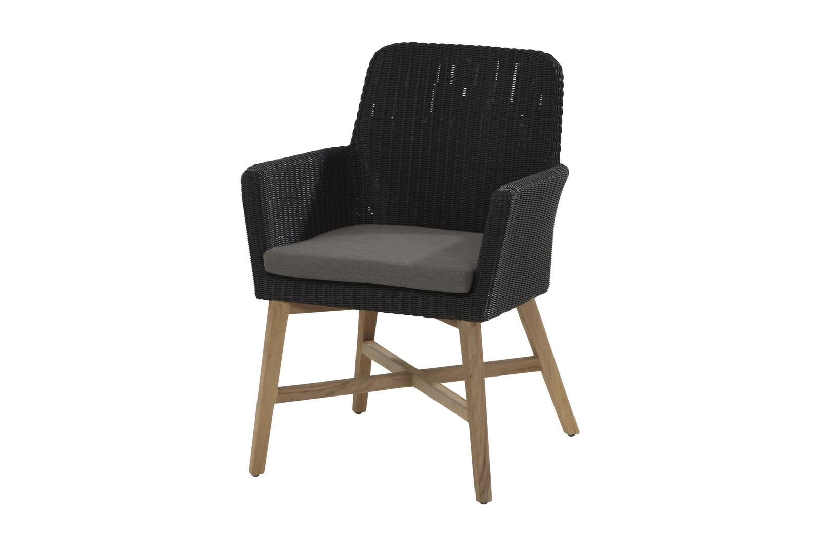 4 Seasons Outdoor Lisboa teak dining chair anthracite