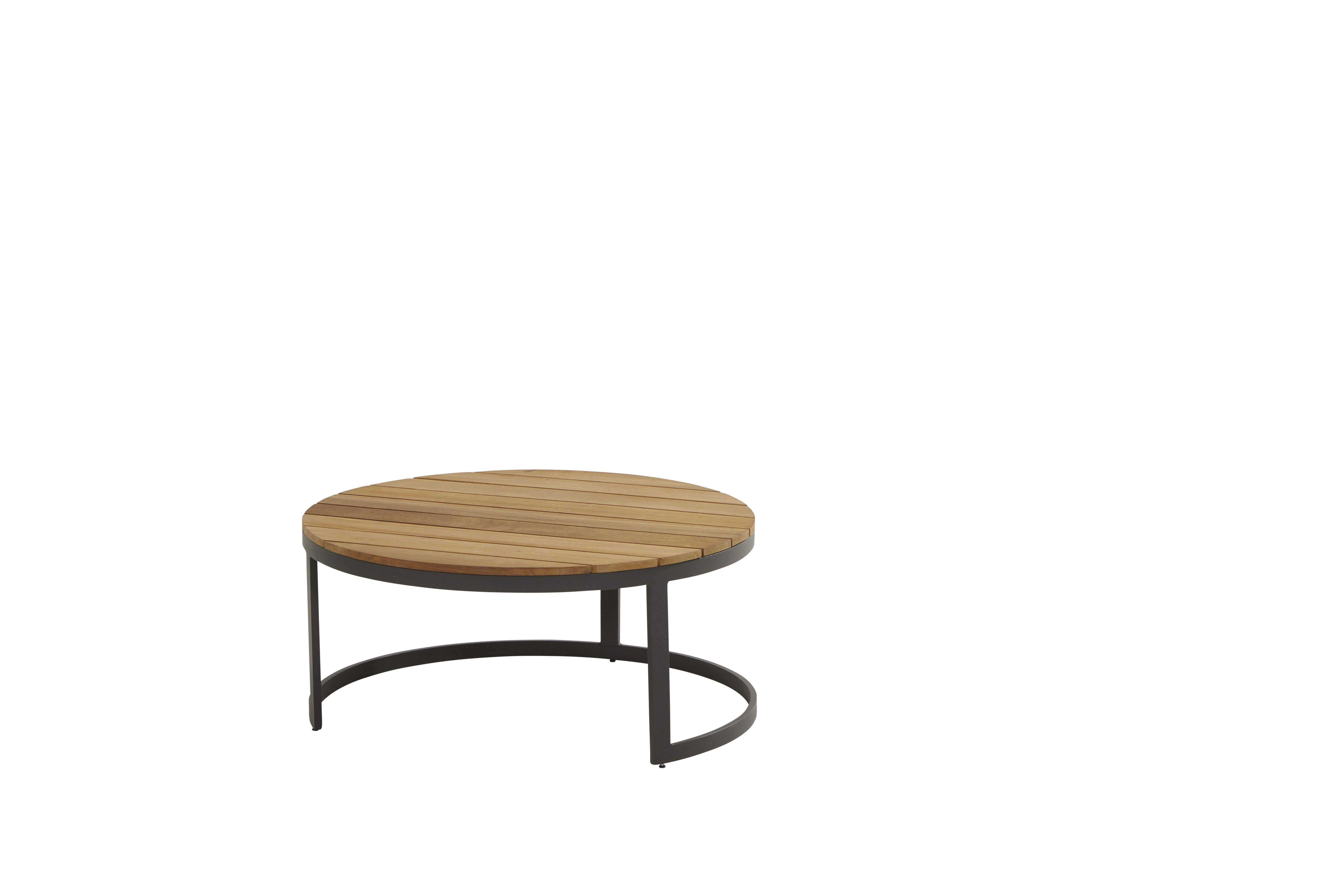 91024_ Stonic set of 2 coffee tables 80 and 60 cm - TEAK ONLY